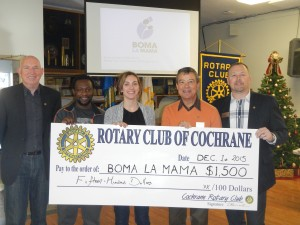 Cheque Presentation- Rotary Club of Cocrhane- Playground