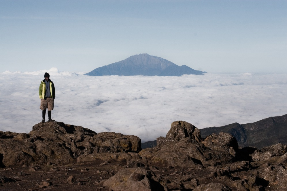 Above the clouds, Kilimanjaro. Photo by Andrew Knapp. Boma Africa