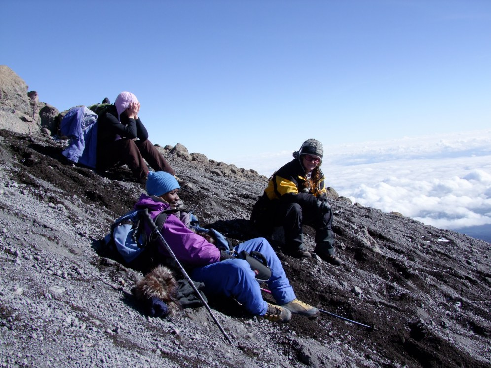 The descent, Kilimanjaro. Boma Africa