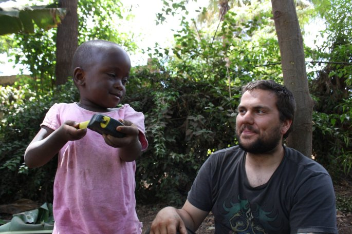 Jeremy builds a small business for a local mama. Boma Africa