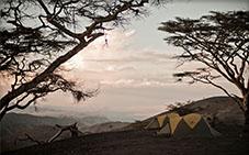 Camping near Mount Lengai