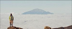 Mt. Meru in the distance.