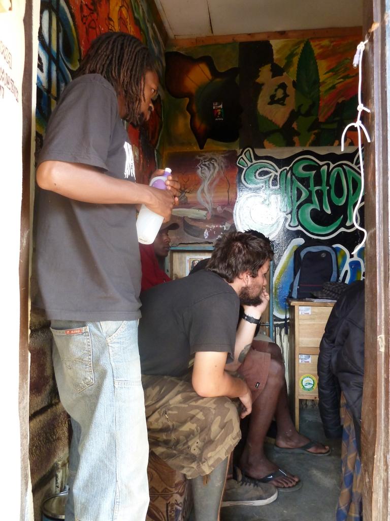Musical collaboration at the Watengwa studio. Boma Africa
