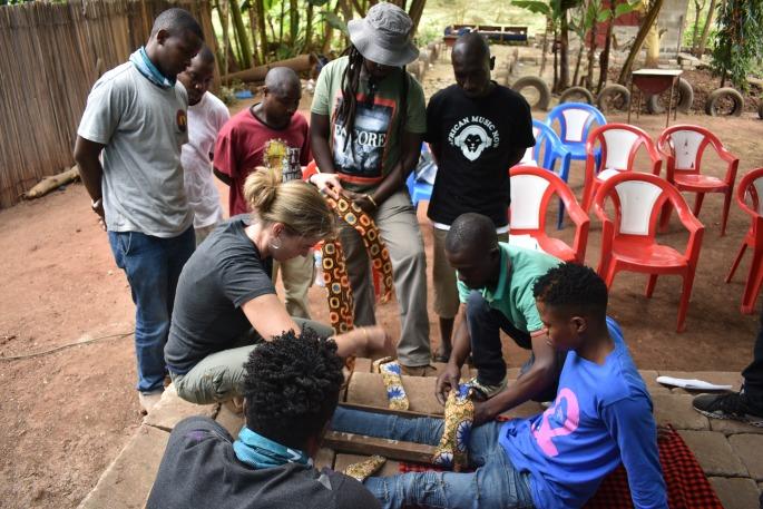 boma africa tanzip zipline first aid mto wa mbu tanzania africa