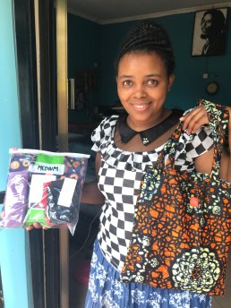Head tarilor Harrieth with one of our FAME postpartum kits